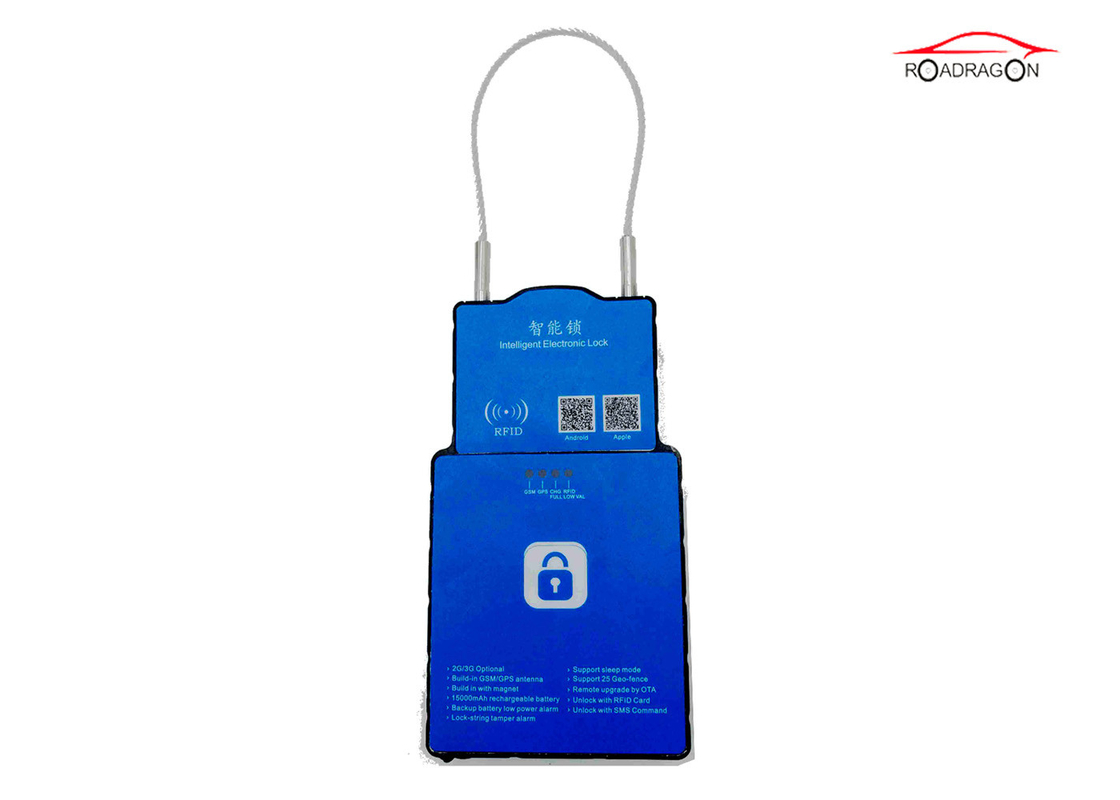 GPRS SMS Platform Wifi Controlled Padlock Logistic Transportation Management